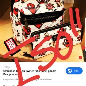 Deadpool wallet and backpack